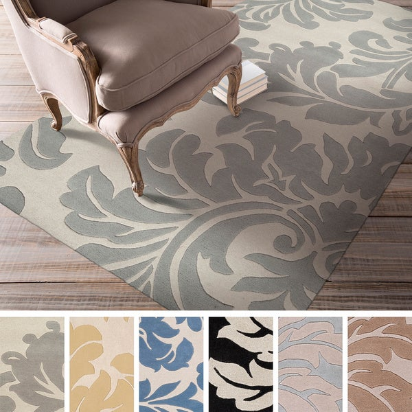 Hand-tufted Paisley Floral Wool Area Rug - 7'6 x 9'6