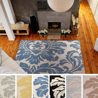 Hand-tufted Paisley Floral Square Wool Area Rug (9'9 x 9'9)