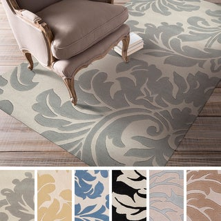 Hand-tufted Paisley Floral Wool Area Rug