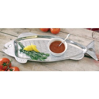 Huge 22-inch Aluminum Fish Serving Tray