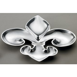 Large 16-inch Fleur De Lis 4-section Tray