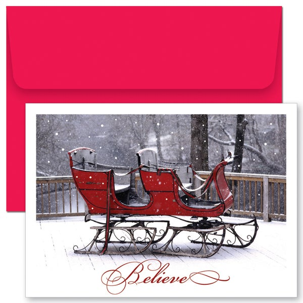 Shop believe sleigh boxed holiday cards free shipping on orders believe sleigh boxed holiday cards m4hsunfo