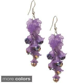 Bleek2Sheek Vine-ology Edition Long Honey Bell Crystal Vine Earrings