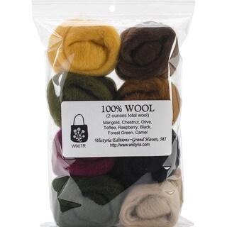 Wool Roving 12in .25 Ounce 8/Pkg-Falling Leaves