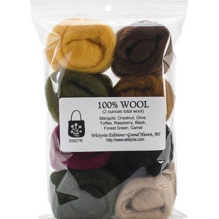 Wool Roving 12in .25 Ounce 8/Pkg-Falling Leaves