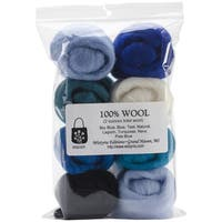 Wool Roving 12in .25 Ounce 8/Pkg-The Sea