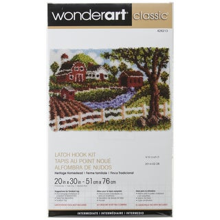 Wonderart Classic Latch Hook Kit 20inX30in-Heritage Homestead