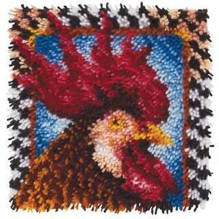 Wonderart Latch Hook Kit 12inX12in-Rooster