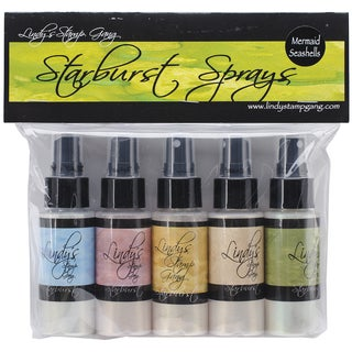 Lindy's Stamp Gang Starburst Spray Set 2oz Bottles 5/Pkg-Mermaid Sea Shells