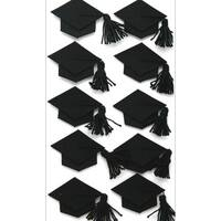 Jolee's Seasonal Stickers-Black Graduation Caps
