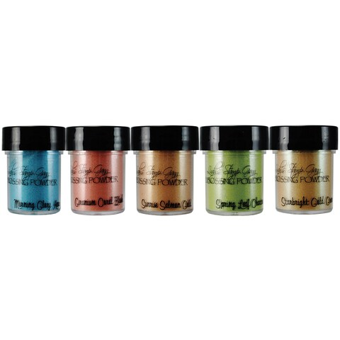 Lindy's Stamp Gang 2-Tone Embossing Powder .5oz 5/Pkg-Mermaid Seashells