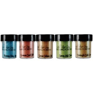 Lindy's Stamp Gang 2-Tone Embossing Powder .5oz 5/Pkg-Mermaid Seashells