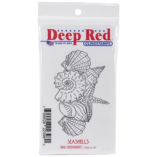 Deep Red Cling Stamp 2inX3.5in-Seashells