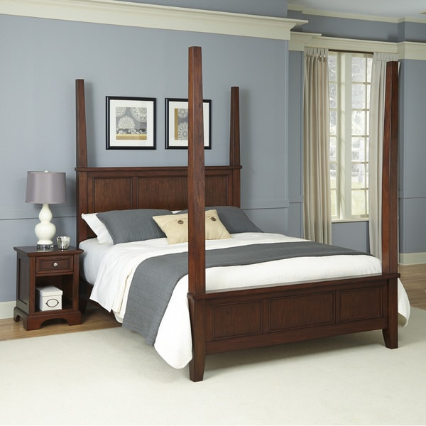Chesapeake Poster Bed and Night Stand by Home Styles