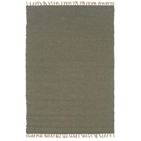Linon Verginia Berber Olive Area Rug (5'3 x 7'6) - 5'3 x 7'6