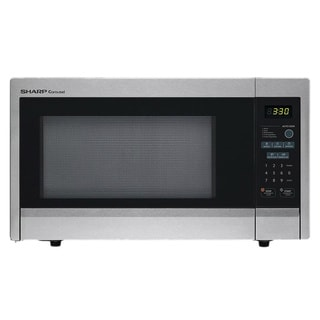 Sharp Carousel Stainless Steel 1.1 Cu. Ft. 1000W Countertop Microwave Oven