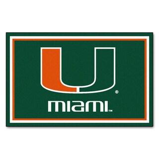 Fanmats NCAA University of Miami Area Rug (4' x 6')
