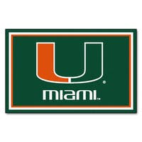 Fanmats NCAA University of Miami Area Rug (4' x 6')