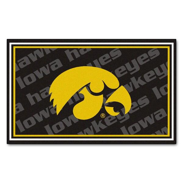 Fanmats NCAA University of Iowa Area Rug (4' x 6')