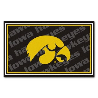 Fanmats NCAA University Of Iowa Area Rug 4 X 6