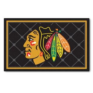 Fanmats Chicago Blackhawks Area Rug (4 x 6)
