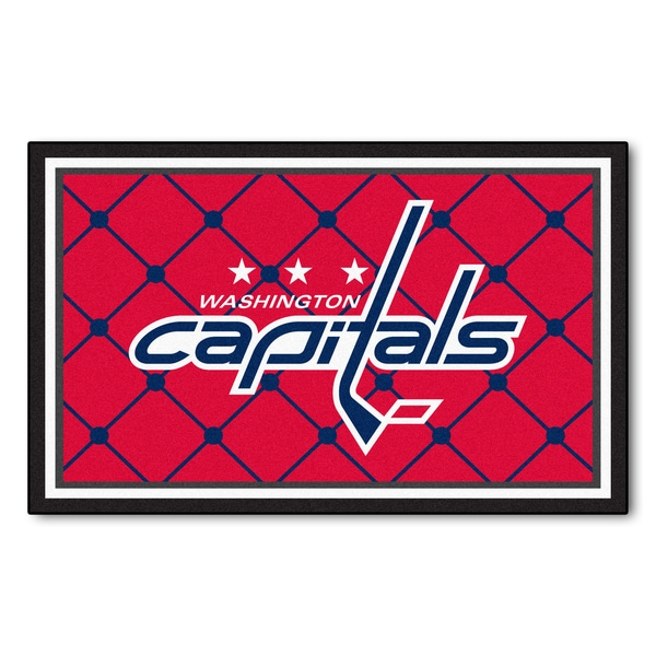 Fanmats NHL Washington Capitals Area Rug (4' x 6')