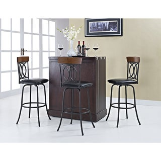 Linon Circle of Life Adjustable Height Metal Bar Stools (Set of 3)