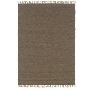 Linon Verginia Berber Cocoa/ Mushroom Area Rug (3'5 x 5'5)