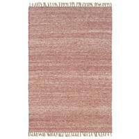 Linon Verginia Berber Red/ Natural Area Rug (5'3 x 7'6)