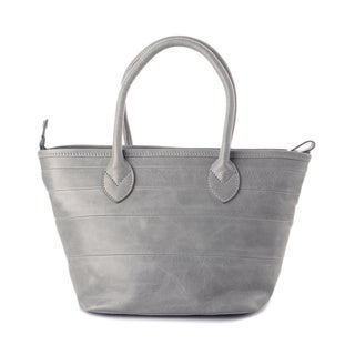 Wa Obi 'Kellie' Grey Leather Small Tote