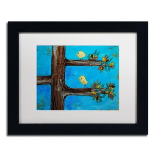 Nicole Dietz 'Birds in a Tree Mixed Media' Framed Matted Art