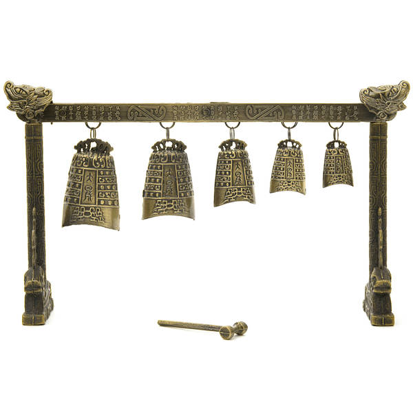 Handmade Tibetan Five Bell Gong (China)