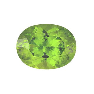 Oval-cut 8x10mm 2.61ct TGW Peridot