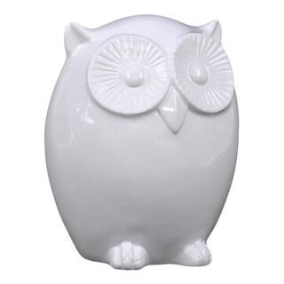 Small White Ceramic Owl