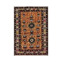 Herat Oriental Afghan Hand-knotted 1960s Semi-antique Tribal Balouchi Wool Rug (2'10 x 4') - 2'10 x 4'