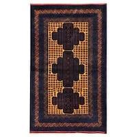 Handmade Herat Oriental Afghan 1960s Semi-antique Tribal Balouchi Wool Rug (Afghanistan) - 2'9 x 4'7