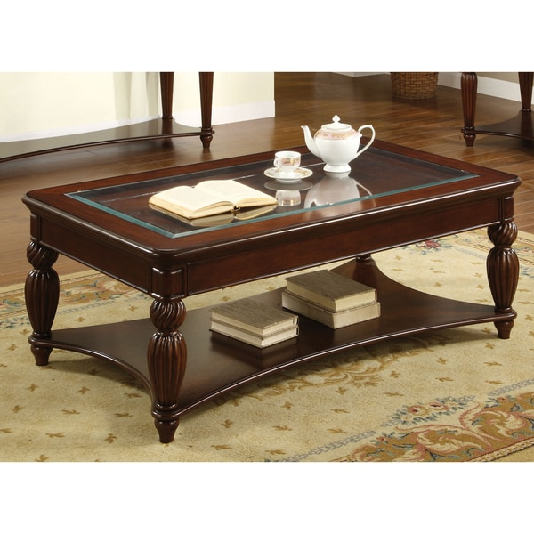 furniture of america morgan beveled glass coffee table free shipping