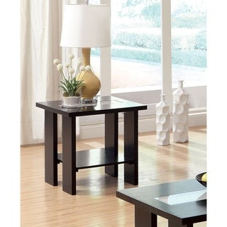 Furniture of America Ceal Modern Espresso Solid Wood End Table