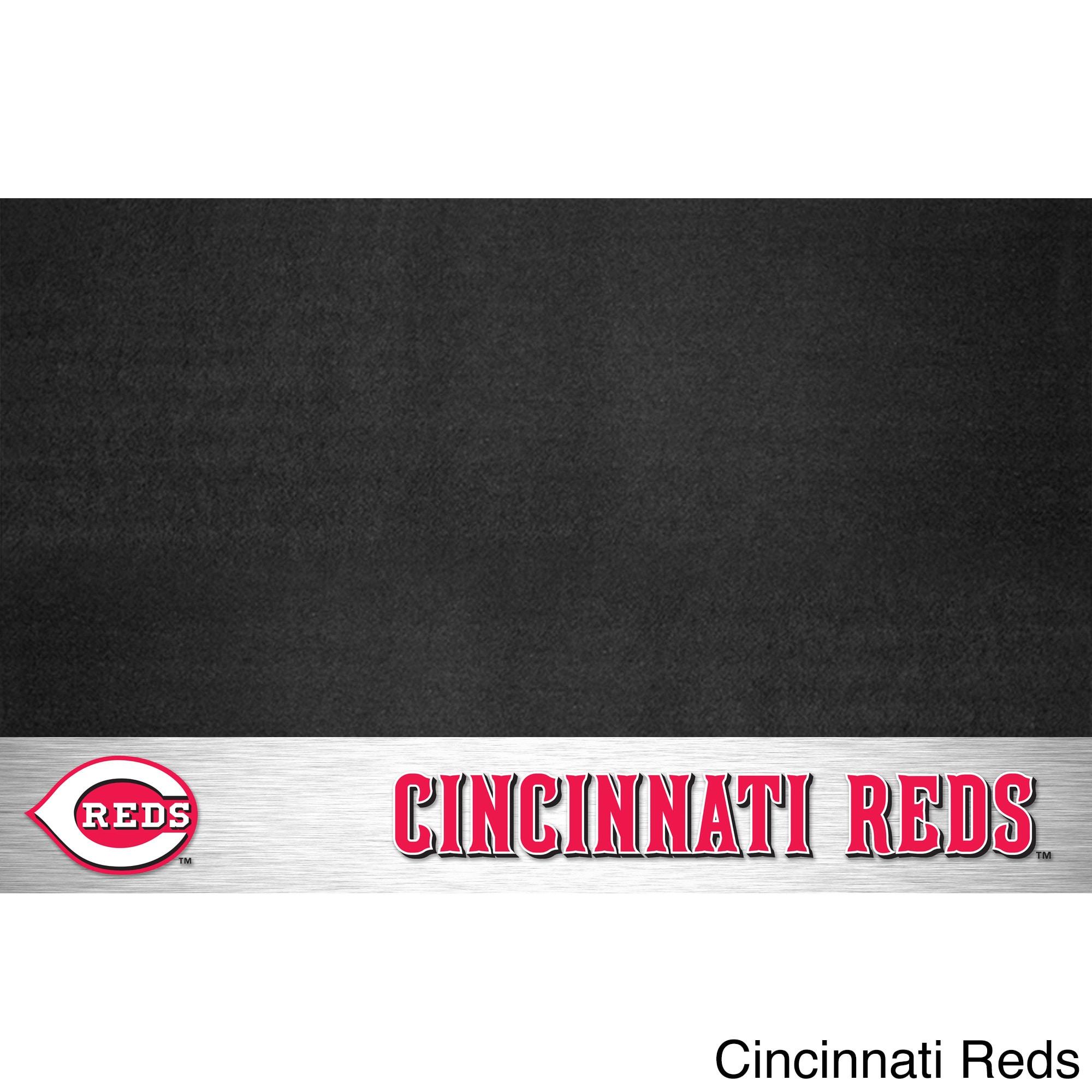 Fanmats MLB Grill Mat (Cincinnati Reds), Black