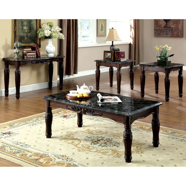 Shop Furniture Of America Saxton 4-Piece Faux Marble Top