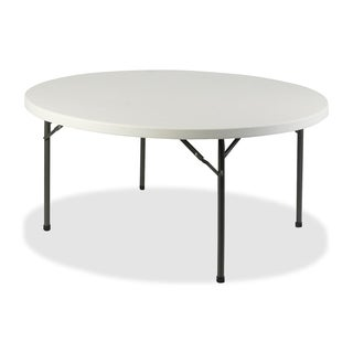 Lorell Platinum 60-inch Round Banquet Folding Table