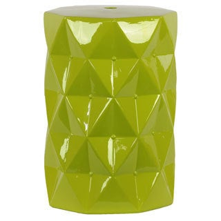 Green Ceramic Stool