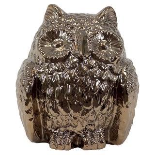 Gold Ceramic Owl