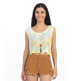 Hadari Juniors Tie-dye Knit Scoop Neck Top