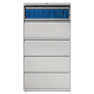 Lorell Light Grey 42-inch 5-drawer Lateral File