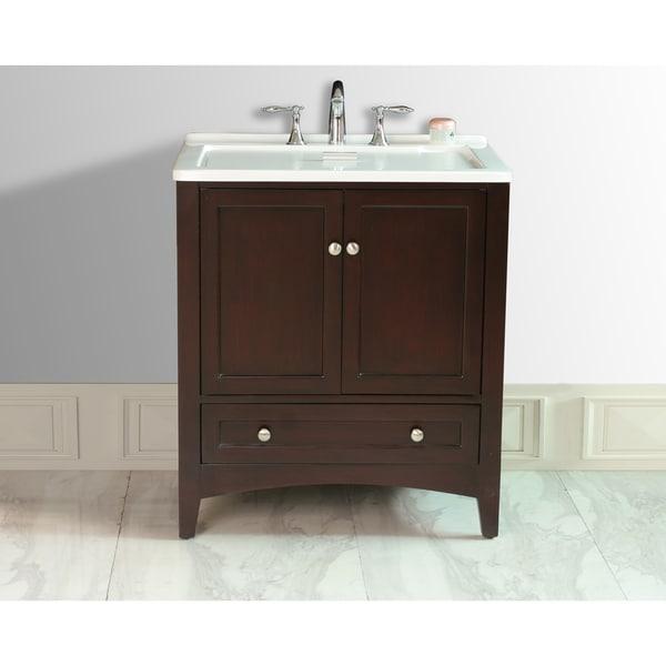 18 Inch Laundry Sink Cabinet : Stufurhome 30.5-inch Espresso Laundry Utility Single Sink - Free ...