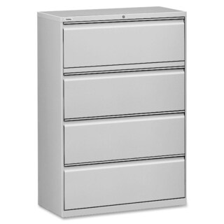 Lorell Light Grey 42-inch 4-drawer Lateral File