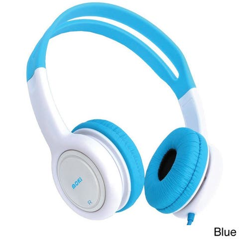 Moki Volume Limited Headphones for Kids Blue