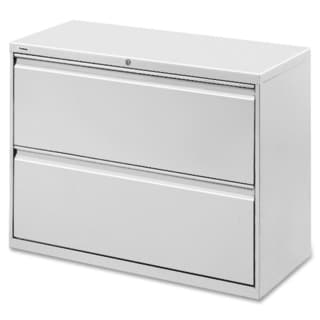 Lorell Light Grey 42-inch 2-drawer Lateral File
