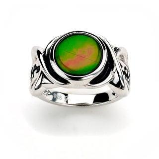 Samuel B. Royal Bali Sterling Silver Multicolor Ammolite Ring